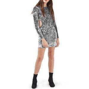 TOPSHOP Cutout Crushed Velvet Dress NWT